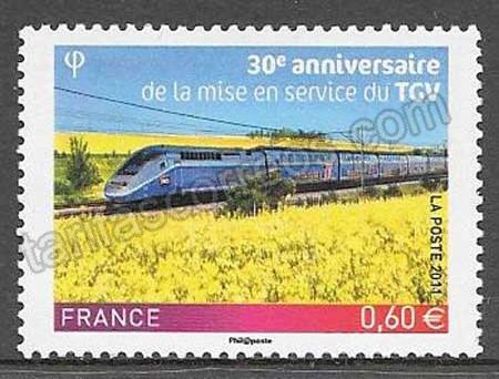enviar paquetes desde - valor sellos Francia trenes 2011