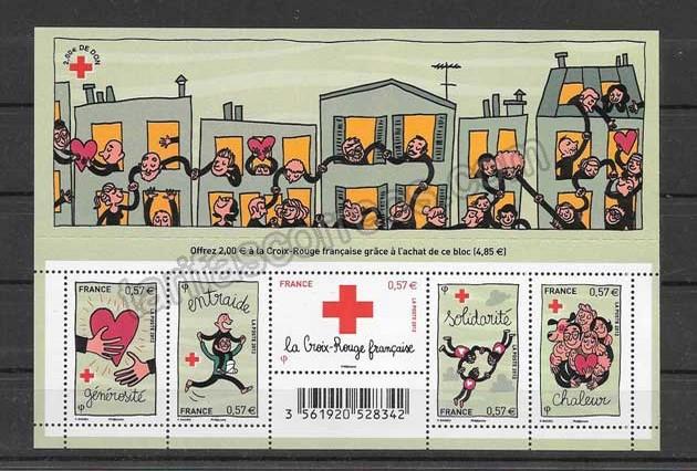 valor y precio Colección sellos  hojita de la solidaridad.