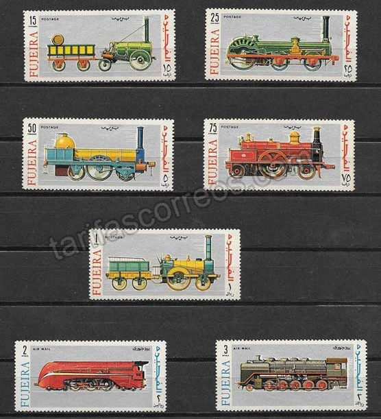 comprar Estampillas transporte ferroviario de Fujeira