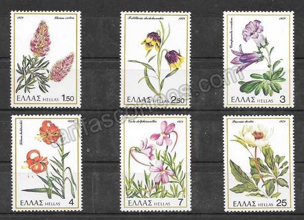 Colección Sellos Plantas raras de Grecia 1978