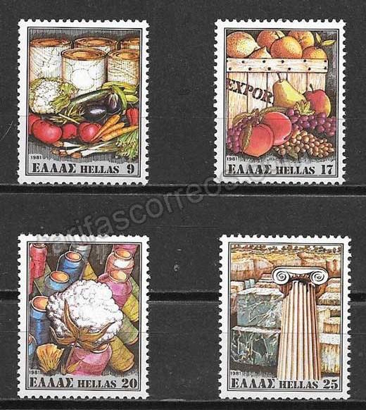 enviar paquetes desde - valor sellos frutas Grecia 1981