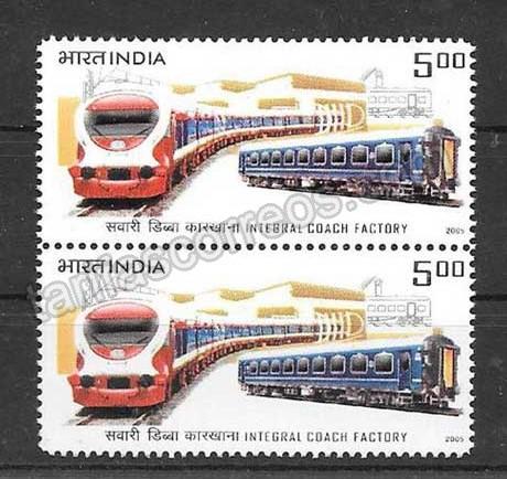 comprar Estampillas transporte ferroviario India-2005-01
