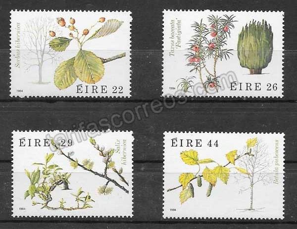 Colección Sellos Flora Irlanda 1984