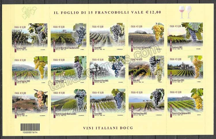 enviar paquetes desde - valor sellos flora Italia 2014