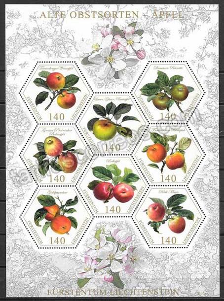enviar paquetes desde - valor sellos flora Lichtentein 2015