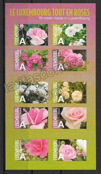enviar paquetes desde - valor sellos flora Luxemburgo 2010