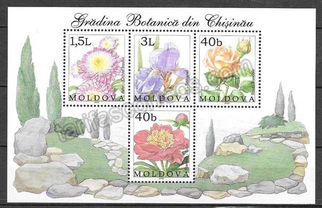 enviar paquetes desde - valor sellos flora Moldavia 2002