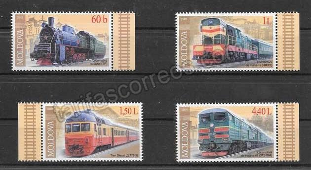 enviar paquetes desde - valor sellos filatelia trenes modernos de moldavia