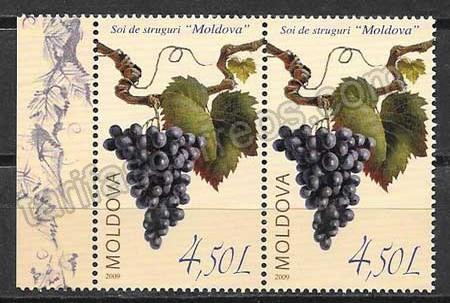 enviar paquetes desde - valor sellos frutas Moldavia 2009