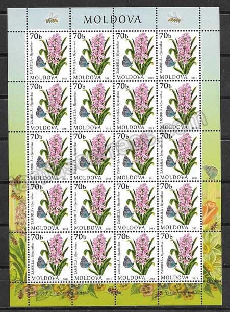 enviar paquetes desde - valor sellos Moldavia-2011-02