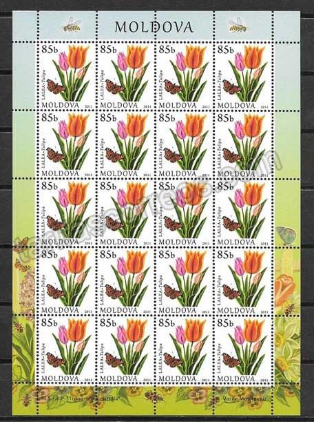 enviar paquetes desde - valor sellos Moldavia-2011-03