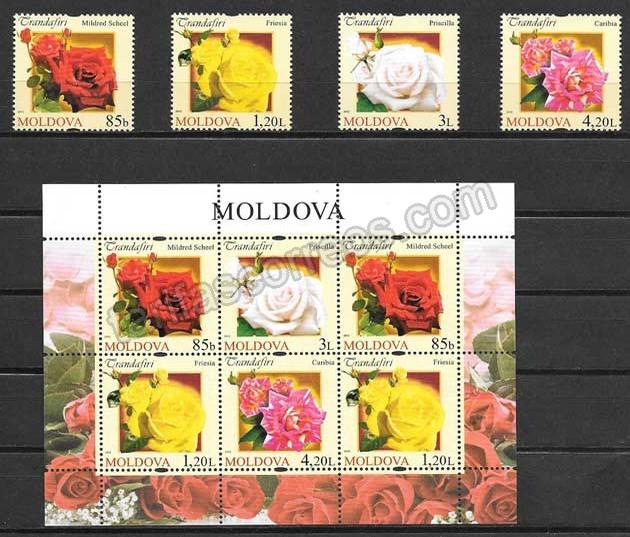 valor y precio Colección sellos flores de Moldavia 2012