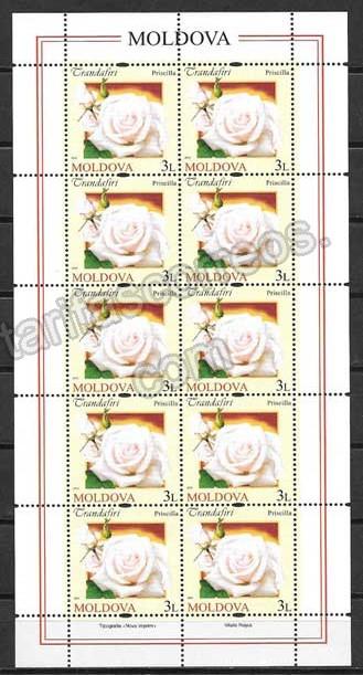 valor y precio Colección sellos Tema rosas diversas.Moldavia-2012-04