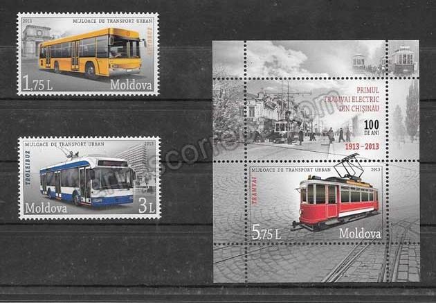 enviar paquetes desde - valor sellos filatelia tranvías eléctricos del 2013