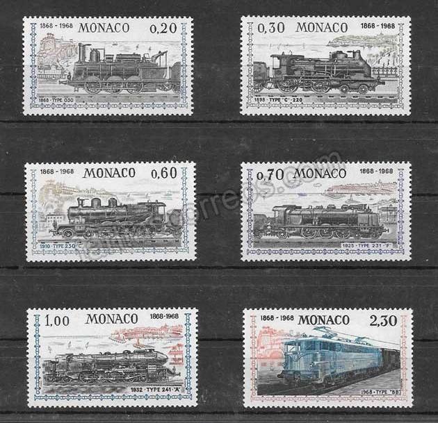 enviar paquetes desde - valor sellos filatelias trenes de mónaco