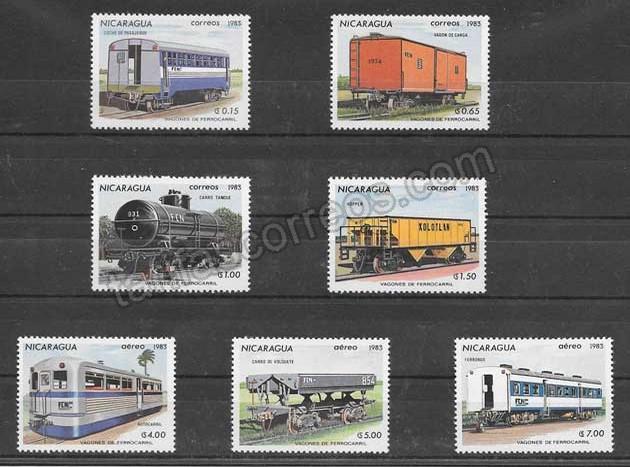 enviar paquetes desde - valor sellos vagones de trenes 1983
