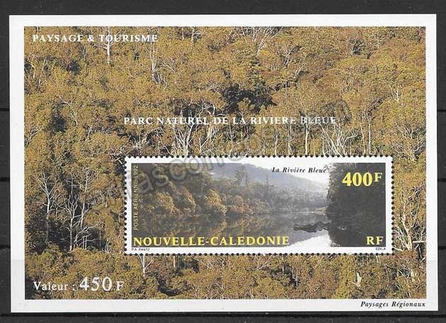 enviar paquetes desde - valor sellos Nueva Caledonia Parques Naturales 1992