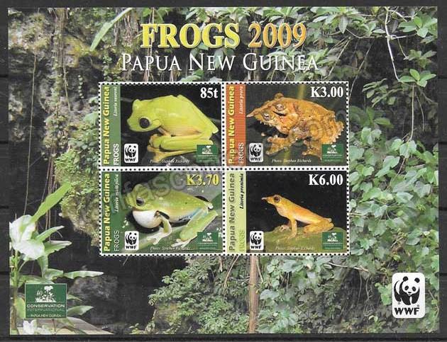 enviar paquetes desde - valor sellos colección fauna wwf Nueva Guinea