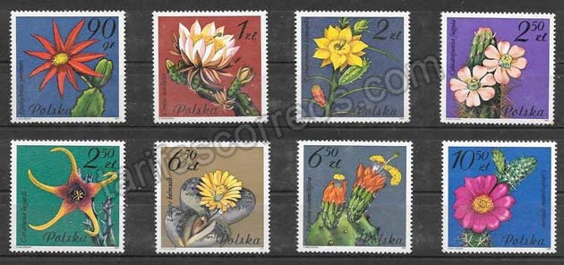 Colección Sellos Flora de Cactus 1988