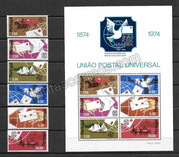 valor y precio Colección sellos Año postal universal de Portugal