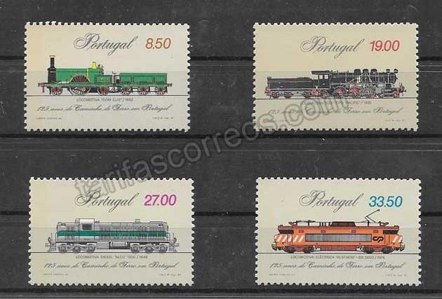 valor y precio Colección sellos aniversario de los trenes Portugal
