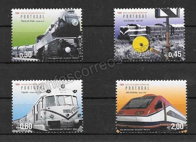valor y precio Colección sellos trenes modernos de Portugal