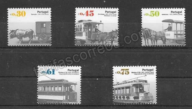 valor y precio Colección sellos transportes públicos antiguos Portugal