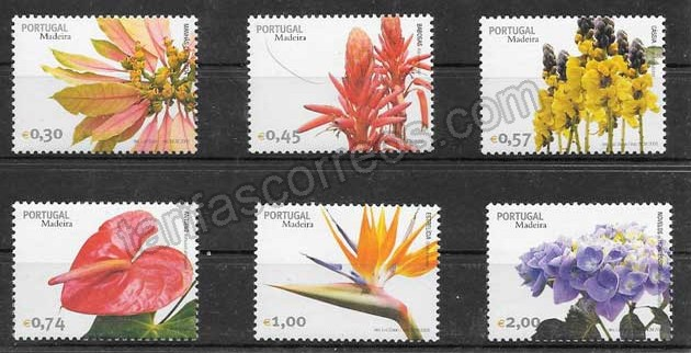 enviar paquetes desde - valor sellos flora Portugal Madeira 2006