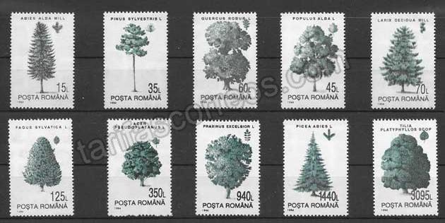 Filatelia Sellos arboles de los bosques