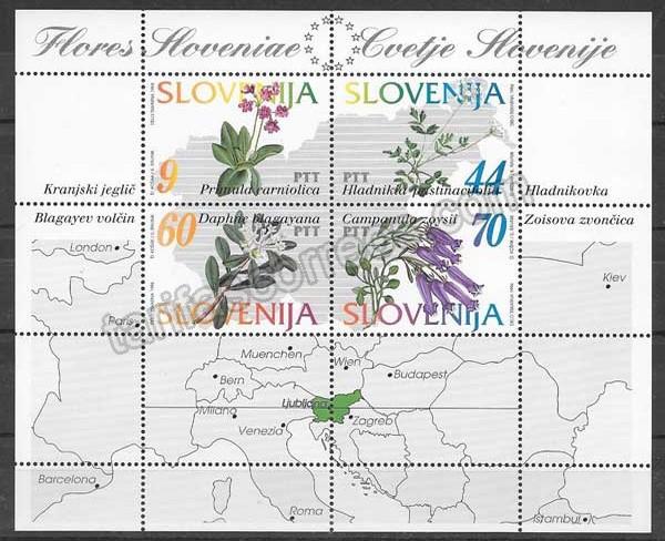 enviar paquetes desde - valor sellos Filatelia flora de Eslovenia 1994
