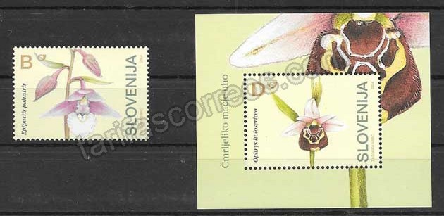 enviar paquetes desde - valor sellos Filatelia flores orquídeas 2004