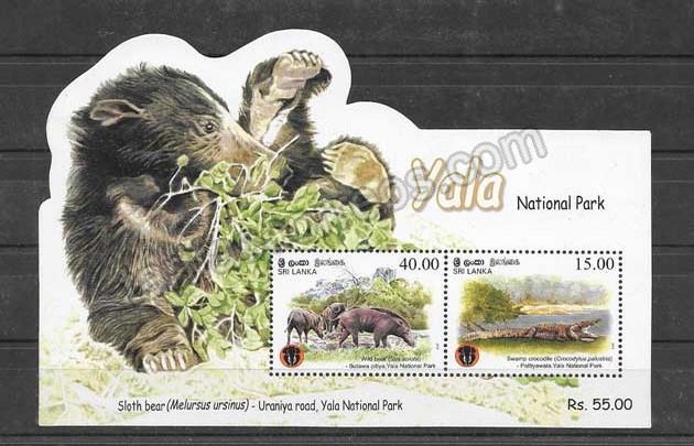 enviar paquetes desde - valor sellos hojitas blocs fauna parque Yala.