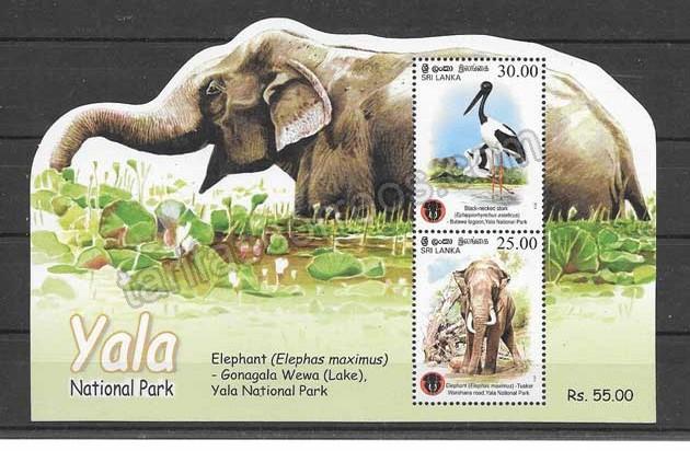 enviar paquetes desde - valor sellos Sri-Lanka-2013-02