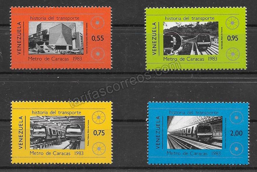 enviar paquetes desde - valor sellos colección Venezuela-1984-01