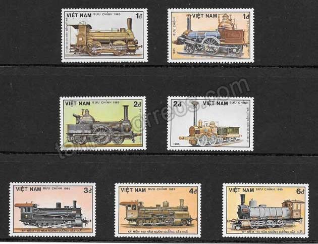 valor y precio Colección sellos transporte ferroviario