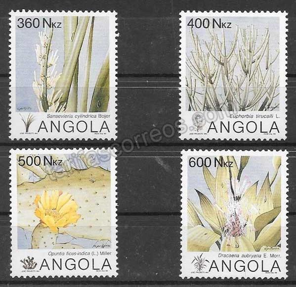 Filatelia flora Angola 1993