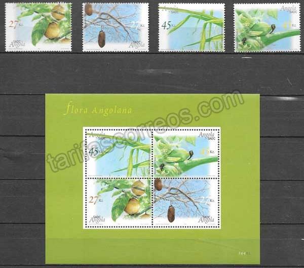 enviar paquetes desde - valor sellos colección flora Angola 2004