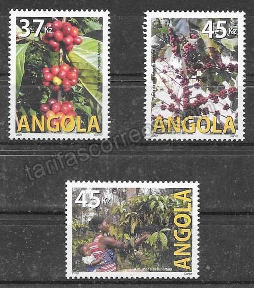 valor y precio Colección sellos flora Angola 2009
