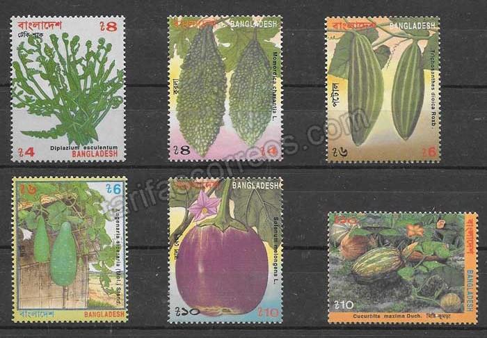 enviar paquetes desde - valor sellos flora Bangladesh 1994