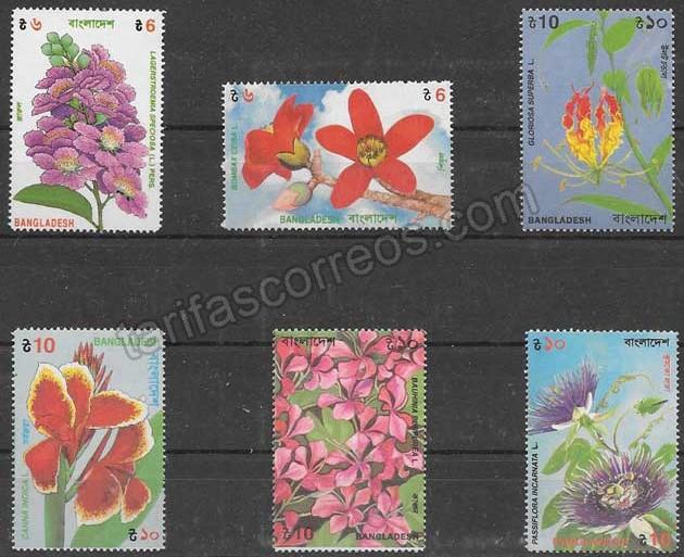 enviar paquetes desde - valor sellos flora Bangladesh 1995