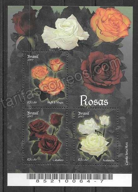 Sellos rosas del Brasil 2007