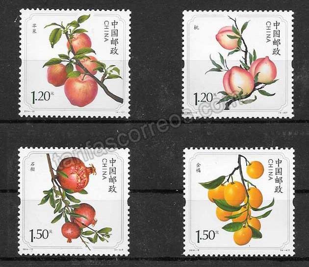 Coleccionismo frutas China 2014