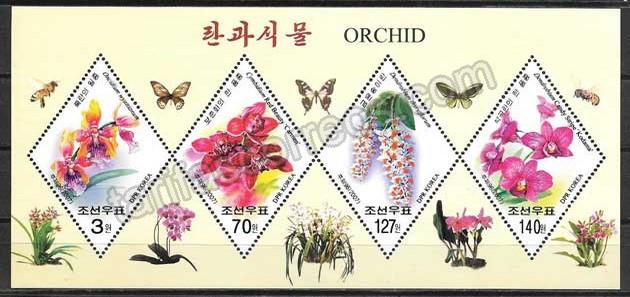 valor y precio Colección sellos flora Corea 2007