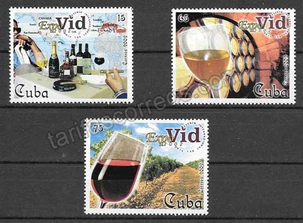 valor y precio Colección  Sellos  Cuba-2002-03