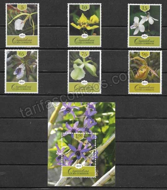 valor y precio Colección  Sellos flora cubana 2013