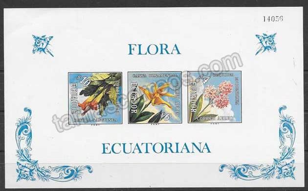 Filatelia Ecuador flora 1972