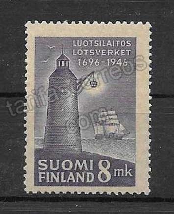 enviar paquetes desde - valor sellos Faro 1946 de Finlandia