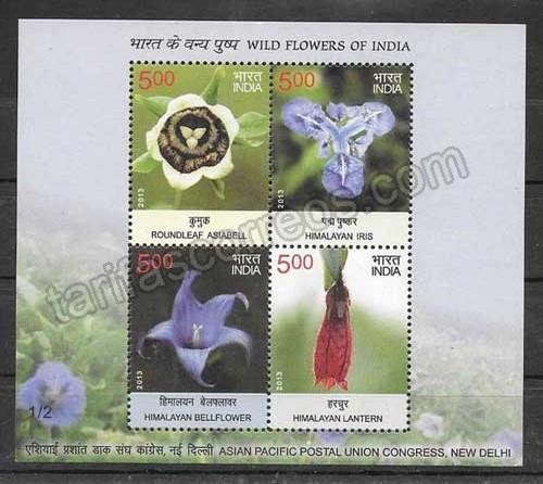valor y precio Colección sellos India-2013-02