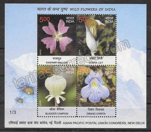 valor y precio Colección sellos India-2013-04