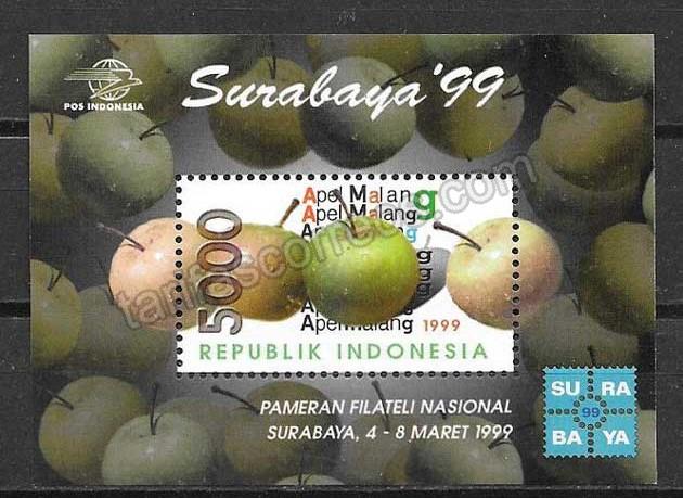 enviar paquetes desde - valor sellos flora Indonesia 1999